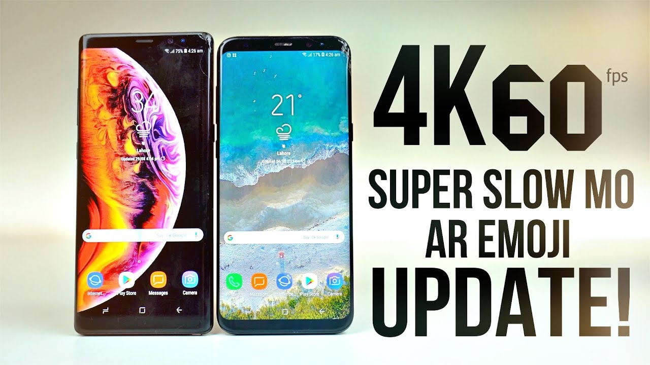 Samsung Galaxy S8 / Note 8 - Unlock 4K 60fps, SuperSlow Mo & AR Emoji!