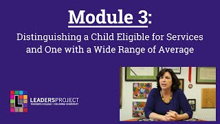NYCDOH Module 3: Distinguishing a Child Eligible for Services: Case Study Videos