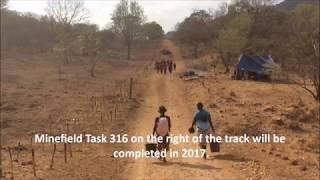 Zimbabwe: kids walking through a minefield to get to school