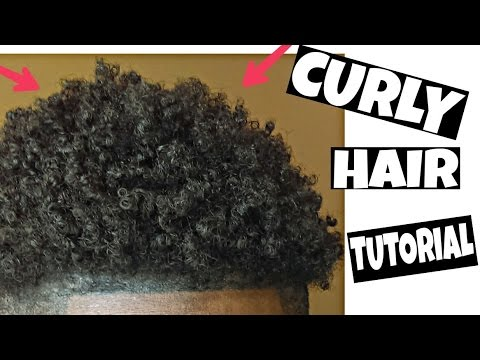 How To Get Natural Curly Hair Black Men Tutorial Youtube