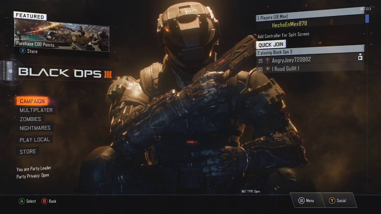 How To Play Splitscreen With Guest On Call Of Duty Black Ops 3 Youtube