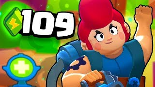 109 POWER UPS in 4 GAMES?! 😱 INSANE BRAWL STARS Showdown!