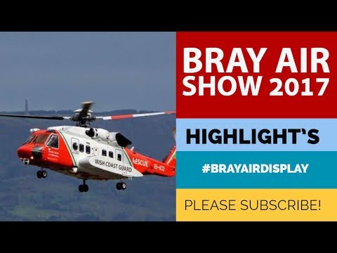 Bray Air Show 2017 - Irish Coast Guard Search and Rescue Demonstration.