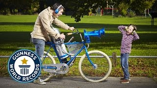 The world's loudest bicycle horn - Guinness World Records 2015
