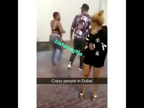 Nigerian lady fights naked in Dubai thumbnail
