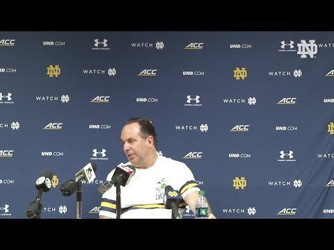 Post-Game Press Conference | @NDmbb vs Florida State (2018)