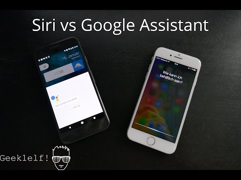 Siri vs Google Assistant Deutsch