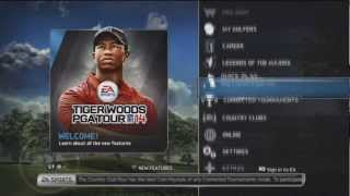 Checking out Tiger Woods PGA Tour 14 on PS3 [1] - menus & create golfer