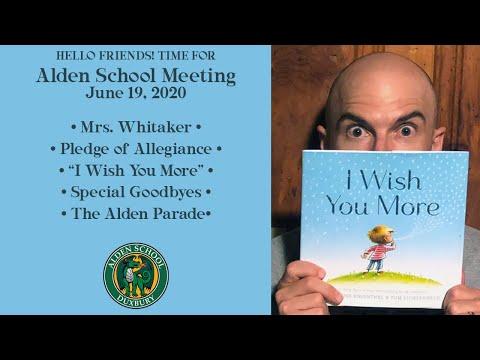 Alden School Meeting | June 19, 2020
