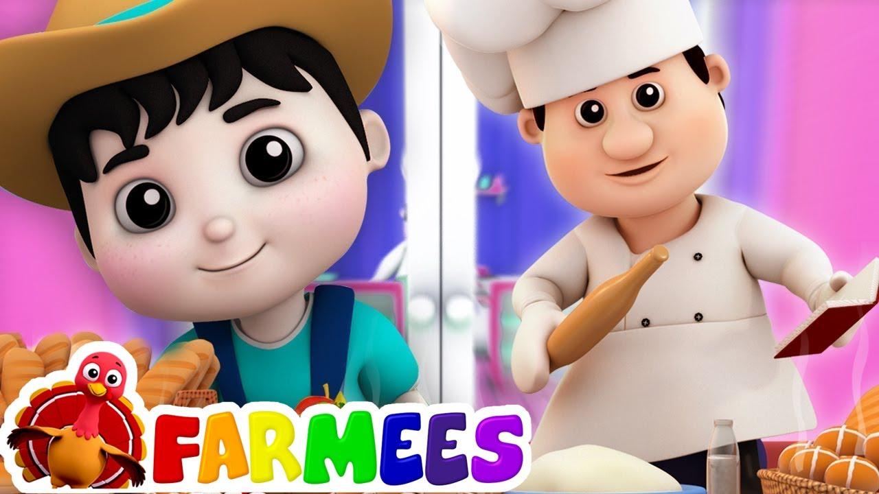 bánh mì chéo nóng bài hát cho trẻ em lò bánh mì bài hát Farmees Vietnam Hot Cross Buns