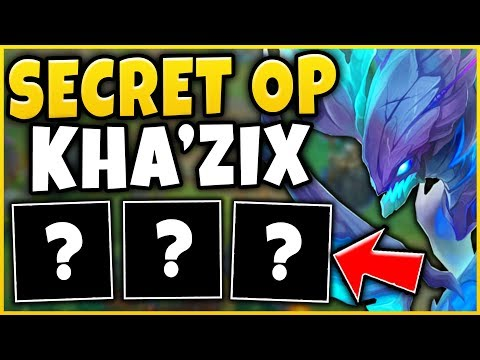 THIS SECRET OP KHA'ZIX BUILD DESTROYS HIGH-ELO (CHALLENGER BRUISER BUILD) - League of Legends