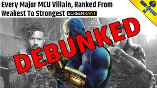 Every MCU Villain Ranked from Weakest to Strongest (DEBUNKED)