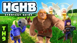 """NEW: """"BEST"""" TH9 3-STAR STRATEGY IN CLASH OF CLANS: HGHB"""
