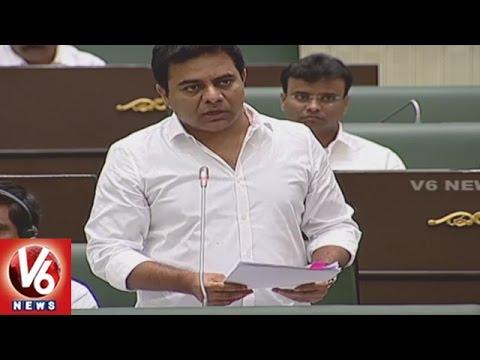 Minister KTR Speech On Mission Bhagiratha | Telangana Assembly Winter Sessions | V6 News