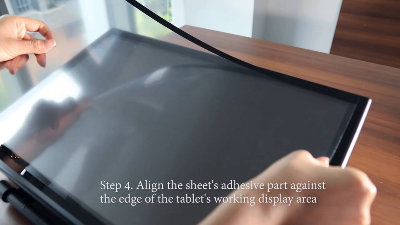 How to attach the new protective film on XP-Pen Products