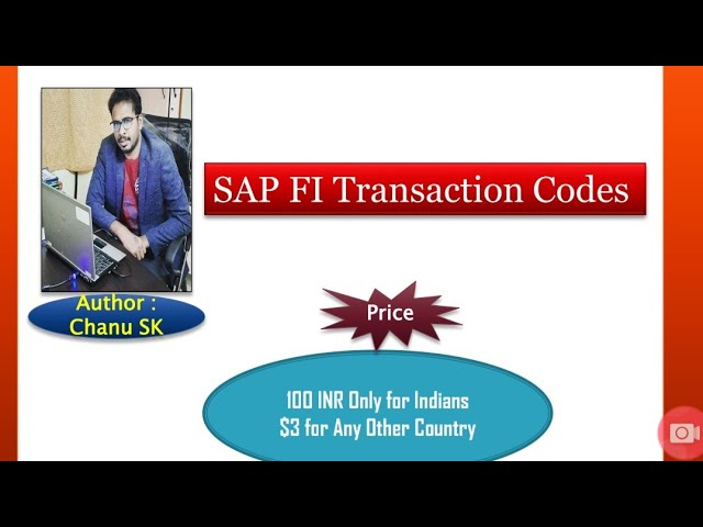 SAP FI End User Tcode  E-Book for sale l Cost 100 rupees only