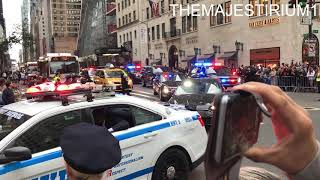COMPILATION OF NYPD, U.S. SECRET SERVICE & DIPLOMATIC SECURITY SERVICES ESCORTING MOTORCADES.  02