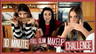 10 Minute Full Glam Makeup Challenge | katerinaop22