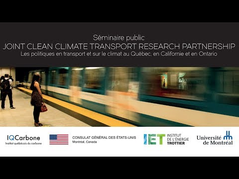 Séminaire sur le transport et le climat / Seminar on transportation and climate
