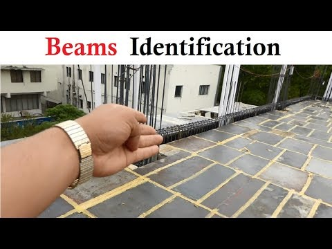 How to identify the specific Beam on the construction drawing at the site