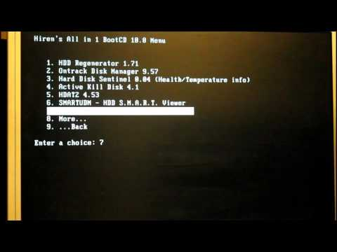 Hirensboot -  Hard Drive Test - 1080p HD