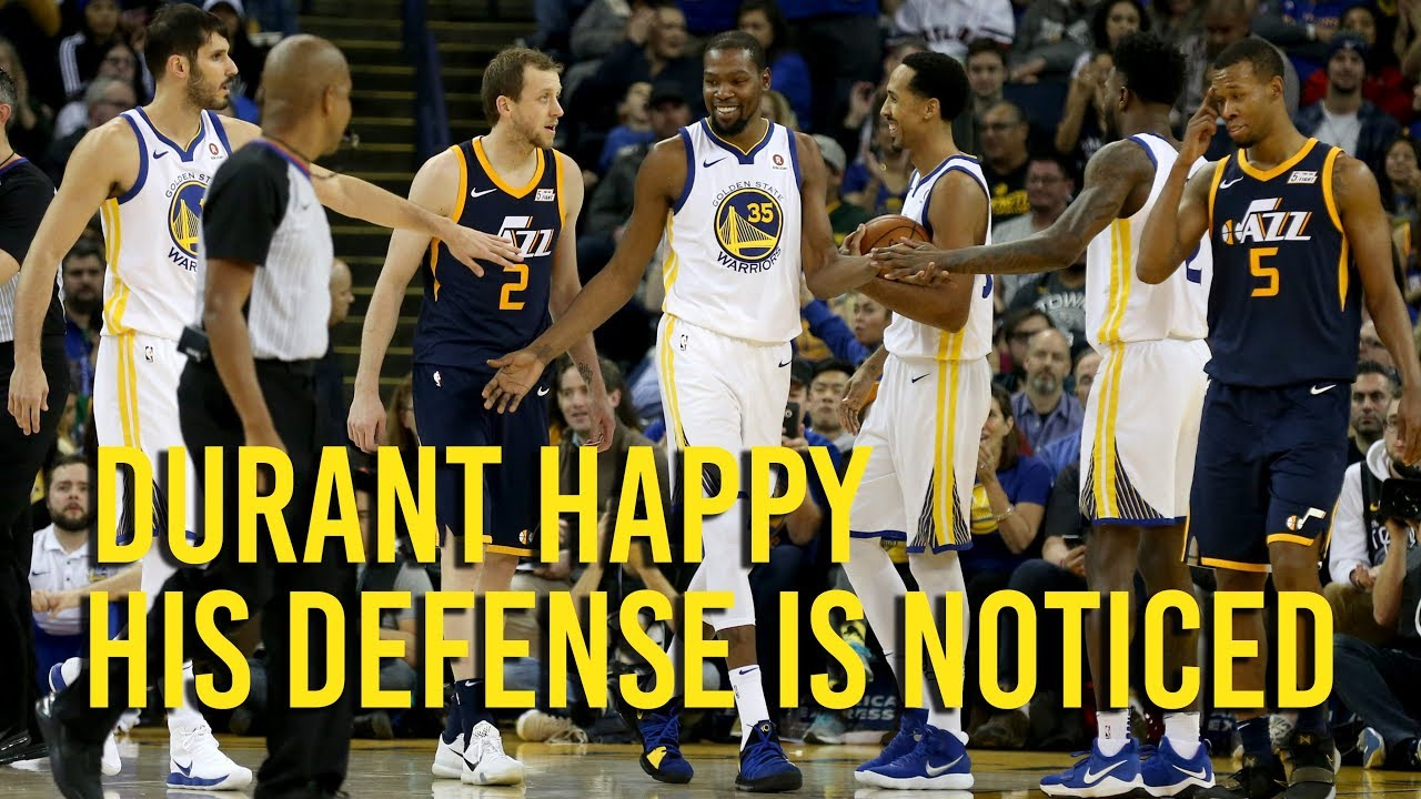 Durant happy to be recognized for defense