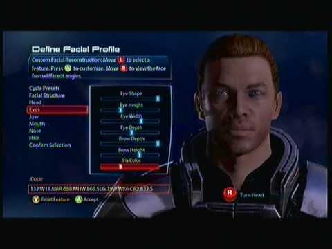 Mass Effect 3 Demo Male Shepard Character Creation