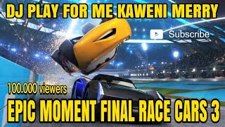 Download Dj Play For Me Kaweni Merry Versi Cars 3 Lightning McQueen Final Race Scane