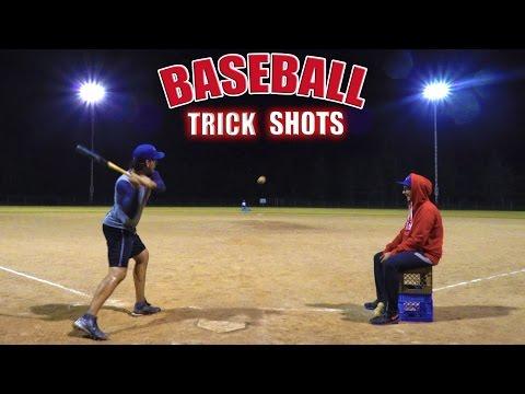 Baseball Trick Shots | SweetSpotSquad