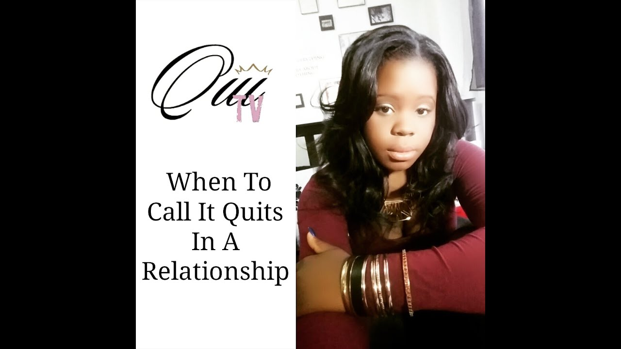 calling it quits in a relationship