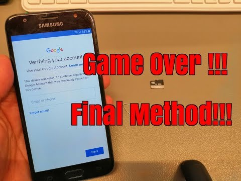 BOOM!!! Samsung J3 2017 SM-J330FN. Remove Google Account.Bypass FRP.