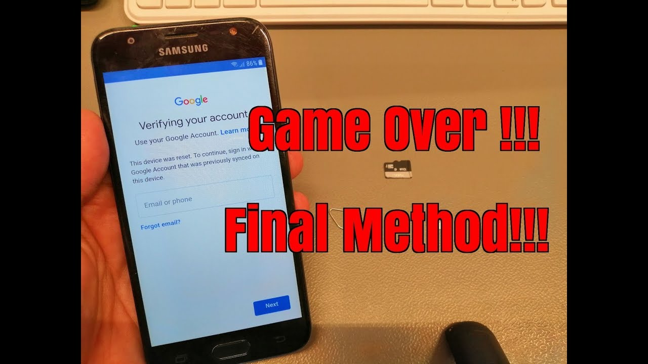BOOM!!! Samsung J3 2017 SM-J330FN  Remove Google Account Bypass FRP