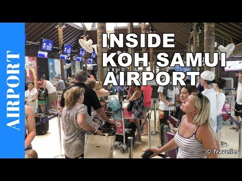 Inside Koh Samui Airport in Thailand - Airport tour - One of our favorite airports