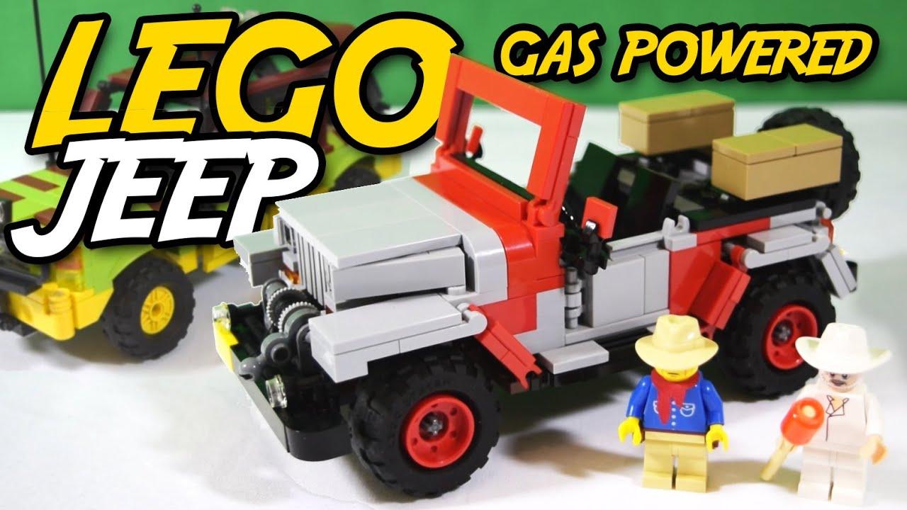 Lego Jurassic Park Gas Powered Jeep Wrangler Jurassic