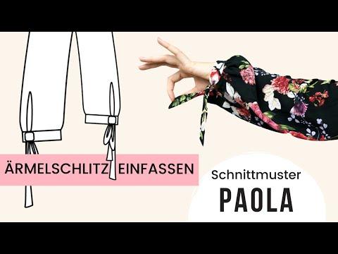 Ärmelschlitz nähen / Ärmel mit Schlitz nähen Anleitung / Schnittmuster PAOLA