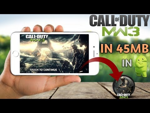 Download Call Of Duty Modern Warfare 3 Game Highly Compressed For Android | NDS Emulator | [45mb]