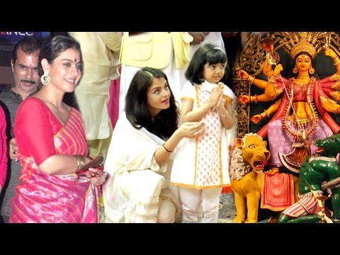 All Bollywood Celebs Durga Pooja 2016 Full Video HD - Kajol,