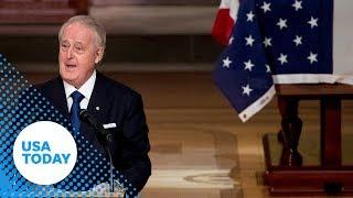 Former Prime Minister of Canada, Brian Mulroney, eulogizes George H.W. Bush