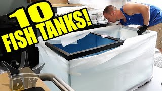 UNBOXING 10 AQUARIUMS
