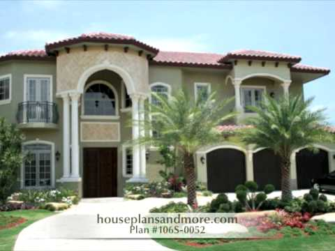 Mediterranean Houses Video 2 | House Plans And More   YouTube