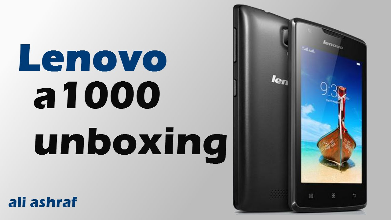 Lenovo A1000 Unboxing Review