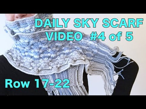 Knitted Daily Sky Scarf Project - Video #4 (4 Righties)