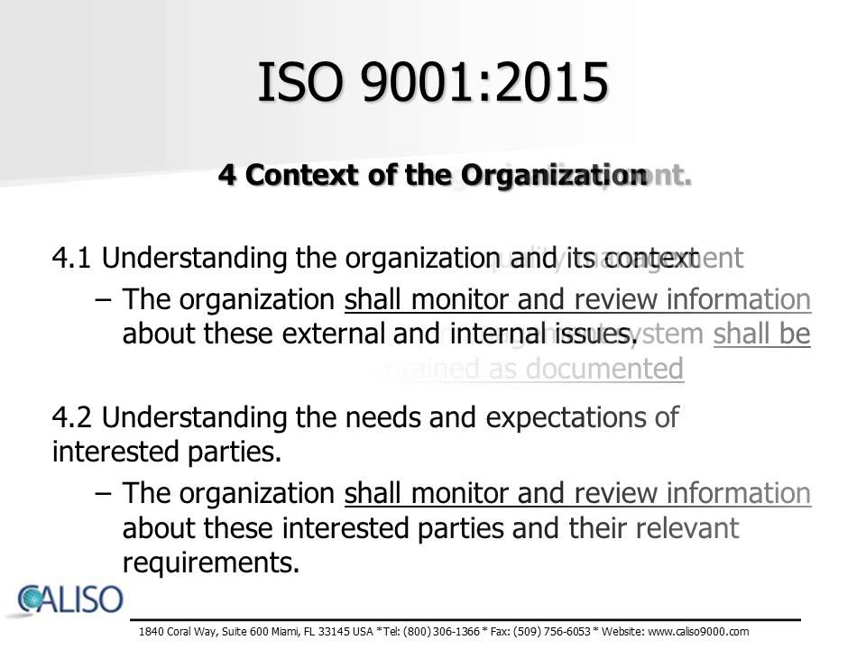 ISO 9001:2015 Overview Training Presentation