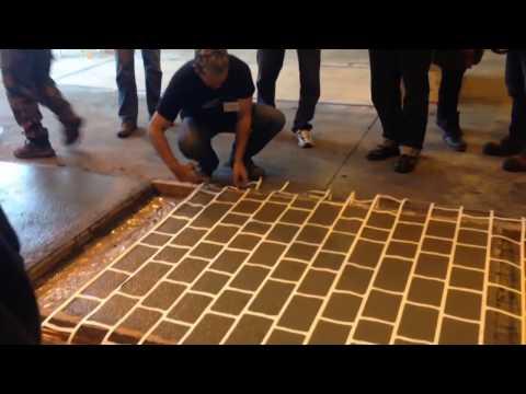 How To Do Stencil Concrete.