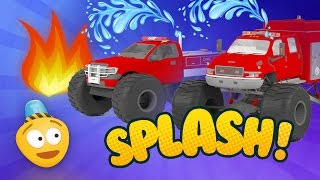 Fire Brigade Monster Truck | Emergency Vehicles Cartoon | Rescue City Heroes | Training Drills
