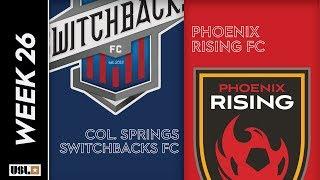 Colorado Springs Switchbacks FC vs. Phoenix Rising FC: August 31st, 2019