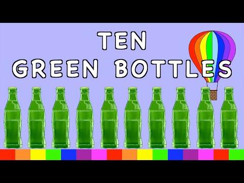 Ten Green Bottles   NURSERY RHYME   RainbowRabbit