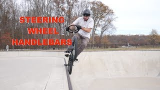 STEERING WHEEL BMX BARS * vs * JOHN!