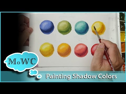 How to Paint Intense Shadow Colors in Watercolor