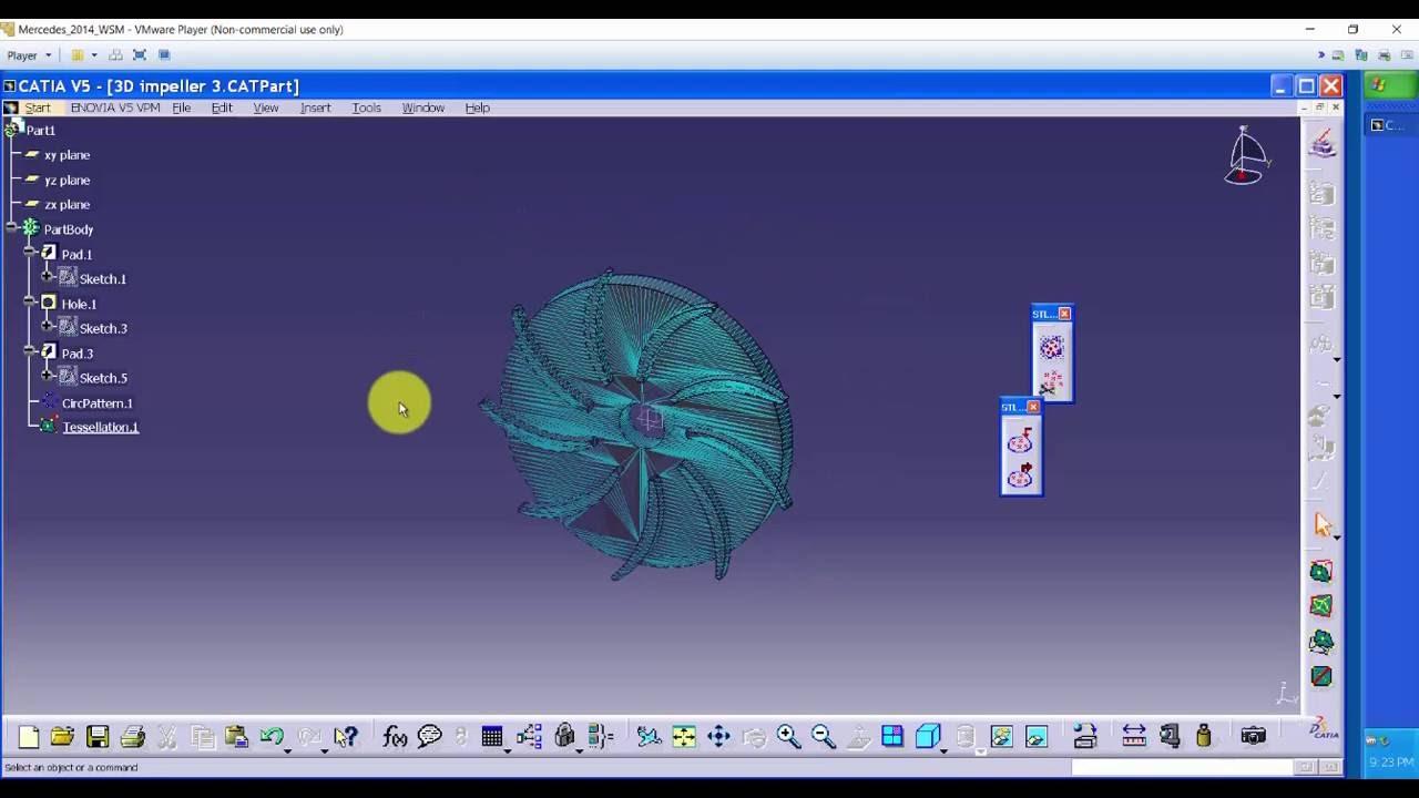 catia v5 tutorial 3d printable impeller part 2 export to stl rh youtube com Catia Ojeda Catia Oliveira